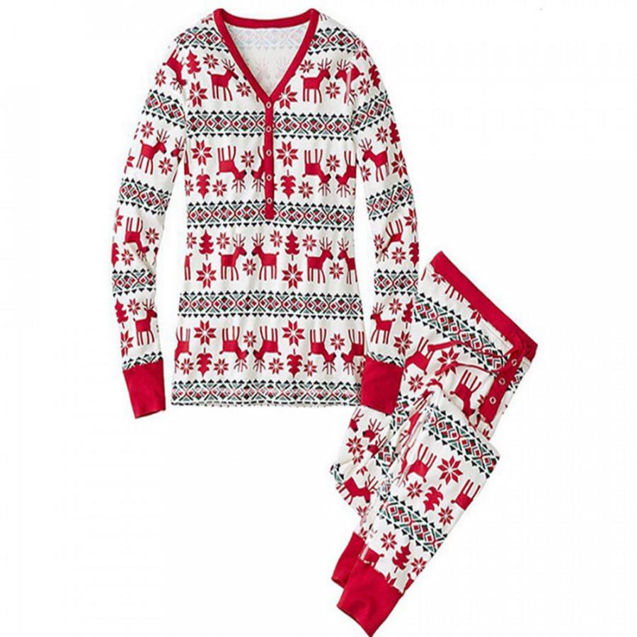 Christmas Pajamas Set Family Pajama Lightweight Sleepwear Cotton Santa Claus Home