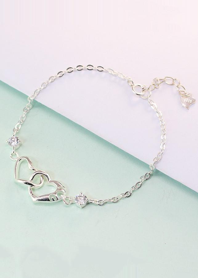 Lắc tay bạc nữ đẹp trái tim đôi đính đá trắng tinh tế LTN0081 - 1760955 , 2154728090527 , 62_12427579 , 450000 , Lac-tay-bac-nu-dep-trai-tim-doi-dinh-da-trang-tinh-te-LTN0081-62_12427579 , tiki.vn , Lắc tay bạc nữ đẹp trái tim đôi đính đá trắng tinh tế LTN0081