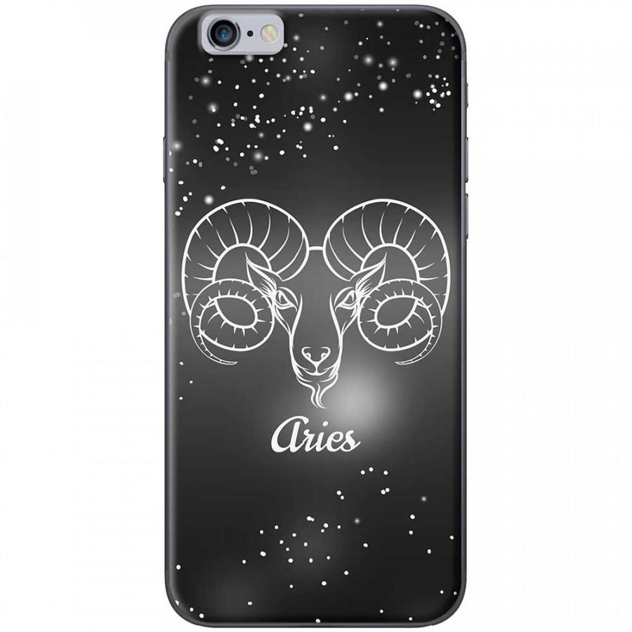 Ốp lưng  dành cho iPhone 6 Plus, iPhone 6s Plus mẫu Cung hoàng đạo Aries (đen)