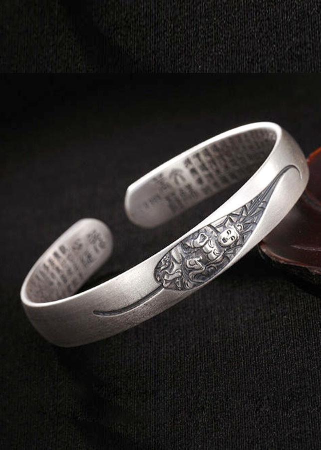Lắc Tay Bạc Thái 8 Vị Phật Bản Mệnh Cầu Bình An May Mắn