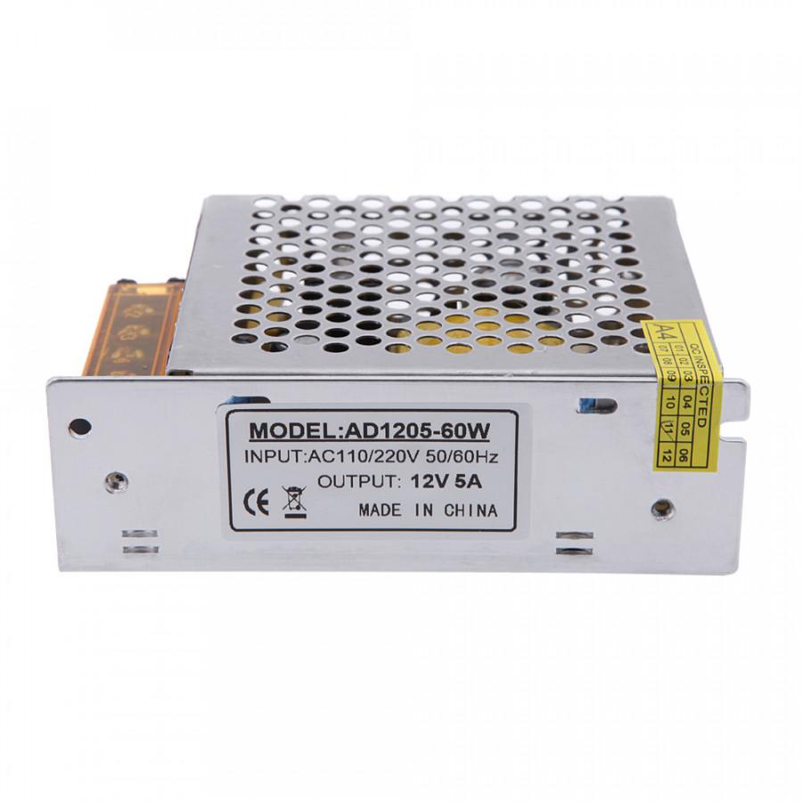 AC 110V/220V to DC 12V 5A 60W Voltage Transformer Switch Power Supply for Led Strip