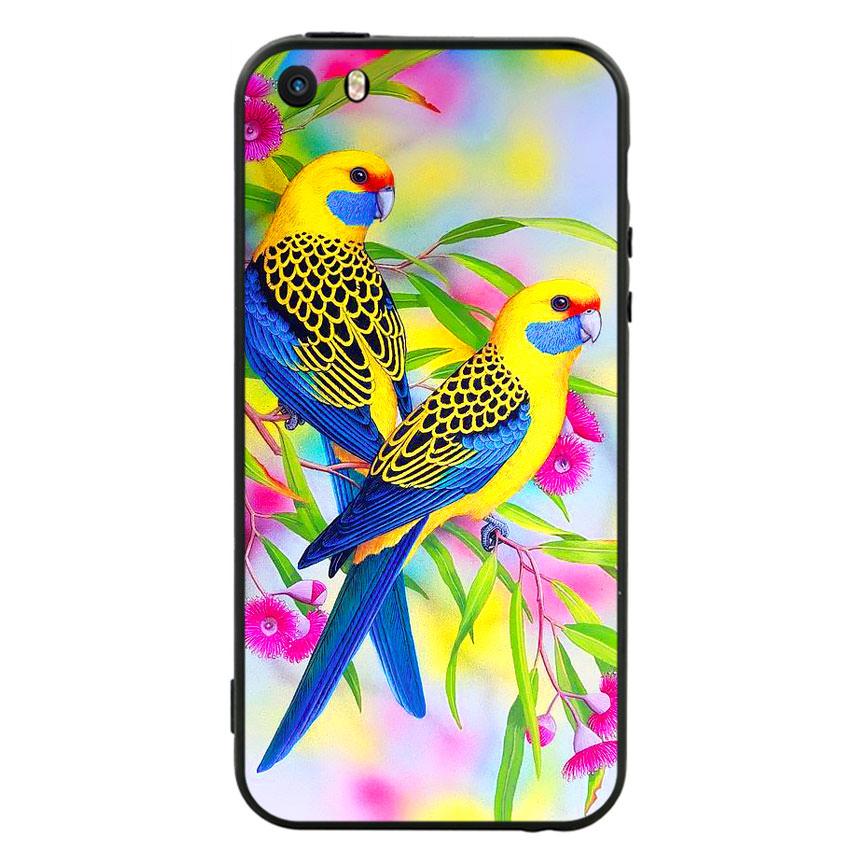 Ốp lưng nhựa cứng viền dẻo TPU cho điện thoại Iphone 5 - Couple Bird