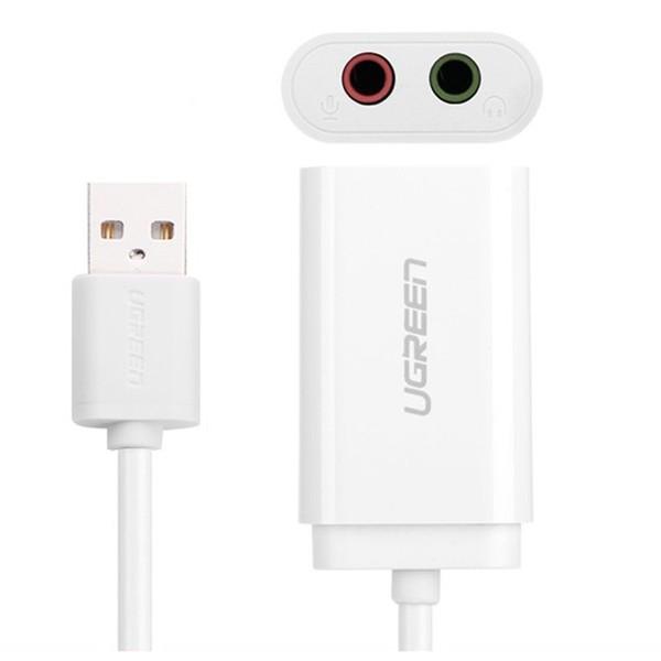 Usb 2.0 Extender 3.5mm sound adapter to earphone Ugreen 30143-Hàng Chính Hãng