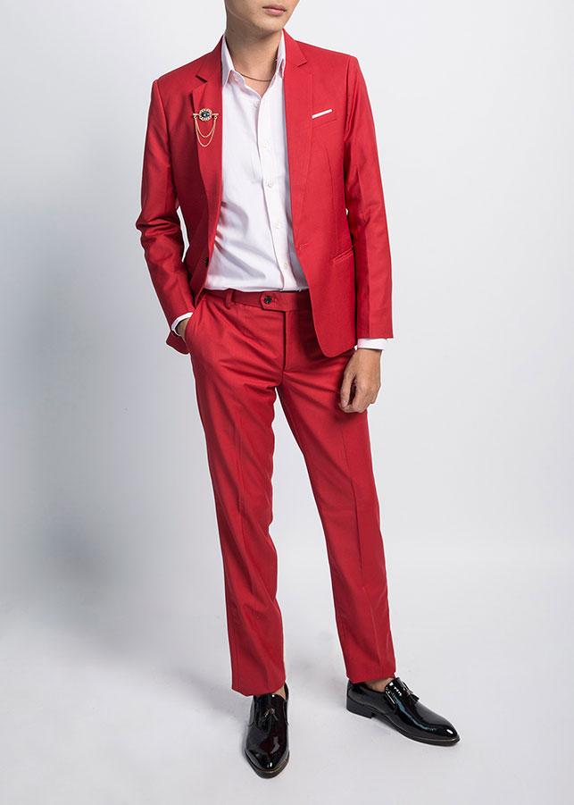 Bộ Suit Nam T907 - Đỏ Hồng