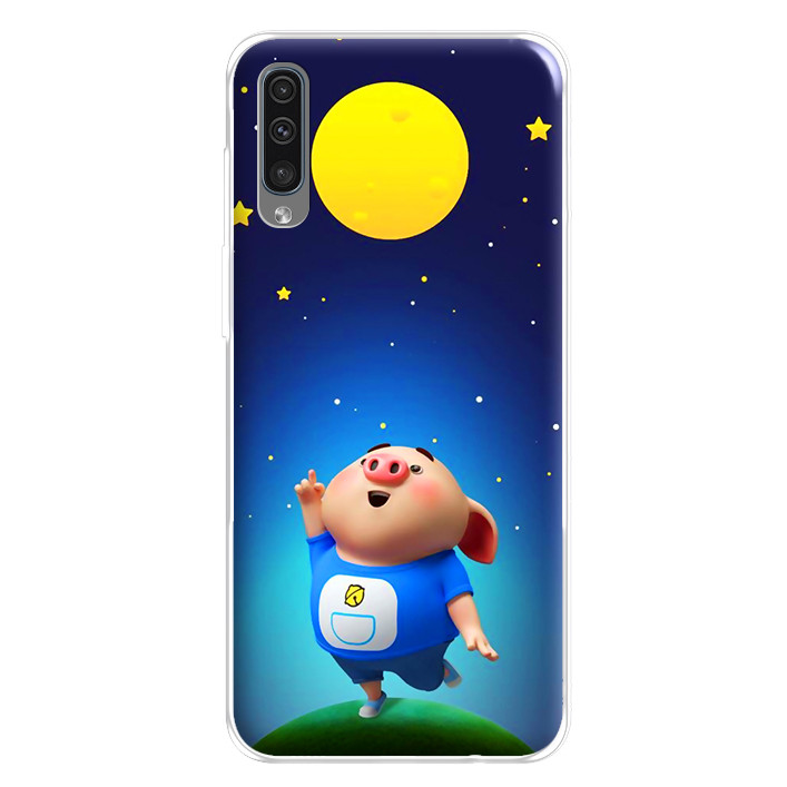 Ốp lưng dẻo cho điện thoại Samsung Galaxy A50 - 224 0051 PIGCUTE06