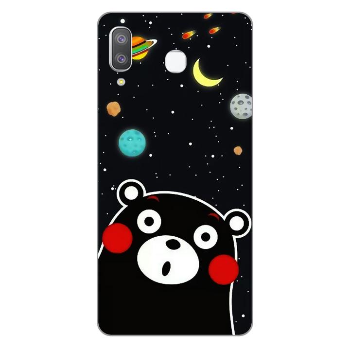 Ốp lưng dẻo Nettacase cho điện thoại Samsung Galaxy A8 Star_0345 BEAR03 - Hàng Chính Hãng