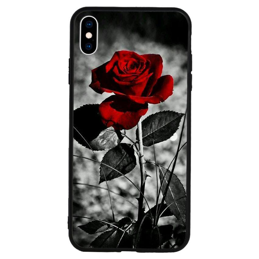 Ốp lưng viền TPU cho điện thoại Iphone Xs Max -Rose 08