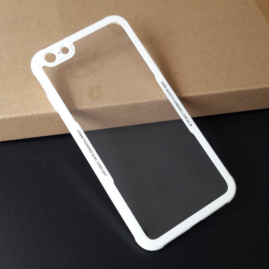 Ốp lưng Cafele nắp kính cường lực trong suốt không ố, viền màu dẻo chống sốc cho iPhone 6 Plus / iPhone 6s Plus - 1126307 , 6186152416129 , 62_7192873 , 260000 , Op-lung-Cafele-nap-kinh-cuong-luc-trong-suot-khong-o-vien-mau-deo-chong-soc-cho-iPhone-6-Plus--iPhone-6s-Plus-62_7192873 , tiki.vn , Ốp lưng Cafele nắp kính cường lực trong suốt không ố, viền màu dẻo ch