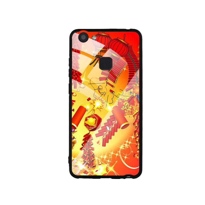 Ốp Lưng Kính Cường Lực cho điện thoại Vivo V7 Plus - Firework 02