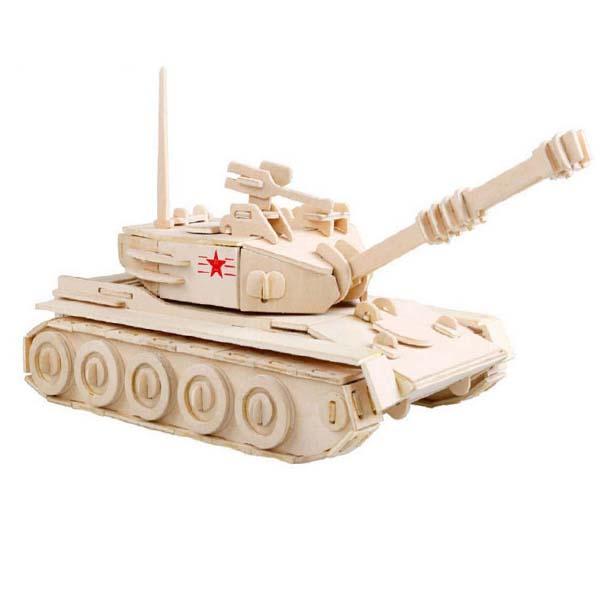 Mô hình lắp ghép 3D bằng gỗ Xe tăng thiết giáp 501