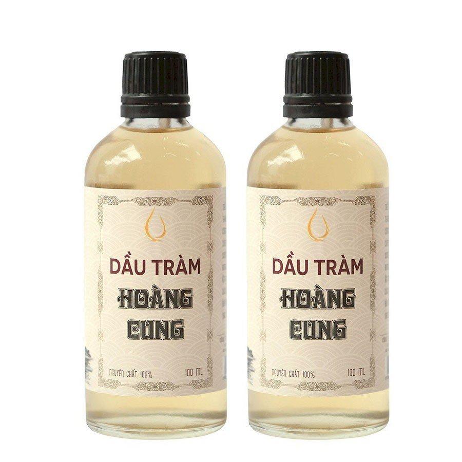Bộ 2 chai tinh dầu tràm Huế - dầu tràm Hoàng Cung 100ml