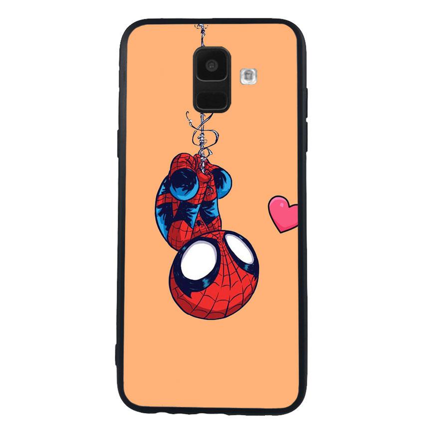 Ốp Lưng Viền TPU cho điện thoại Samsung Galaxy A6 - Spiderman 02