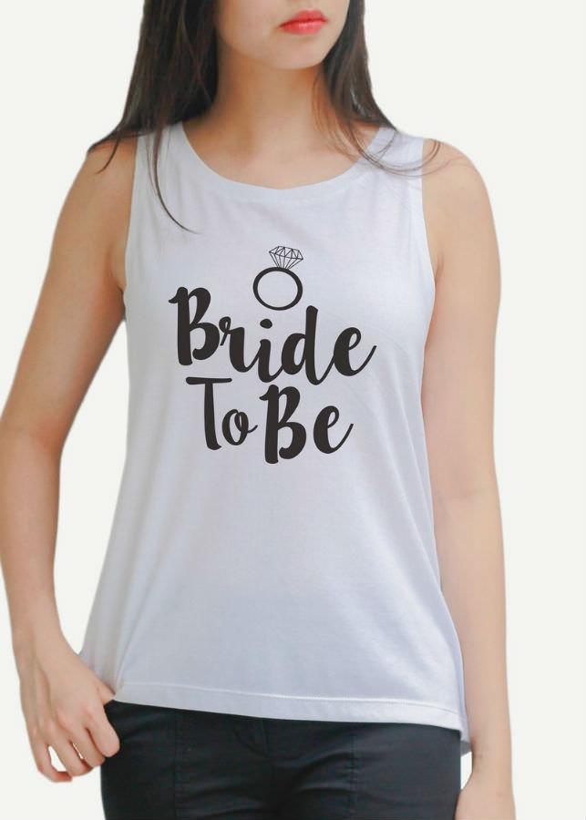 Áo Tanktop Nữ Bride to be - Trắng