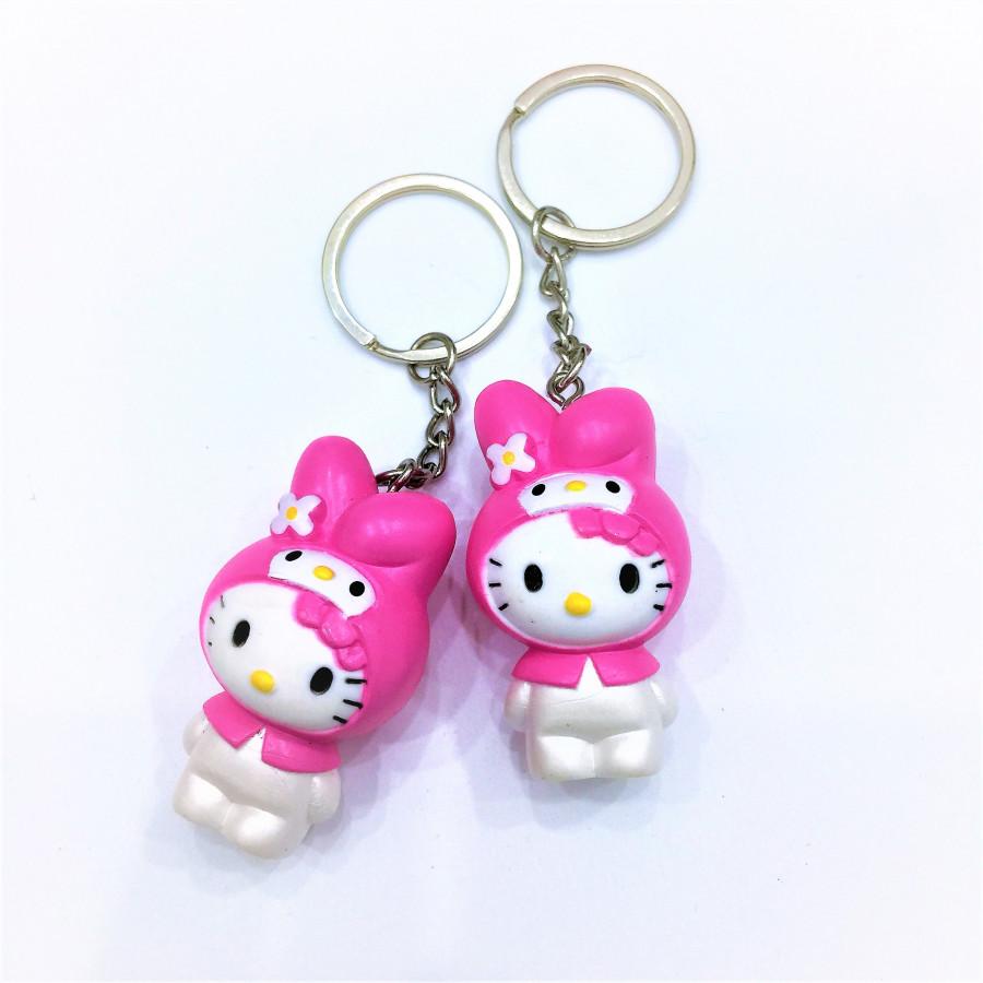 Combo 2 móc khóa hình mèo hồng đáng yêu - COUPLE