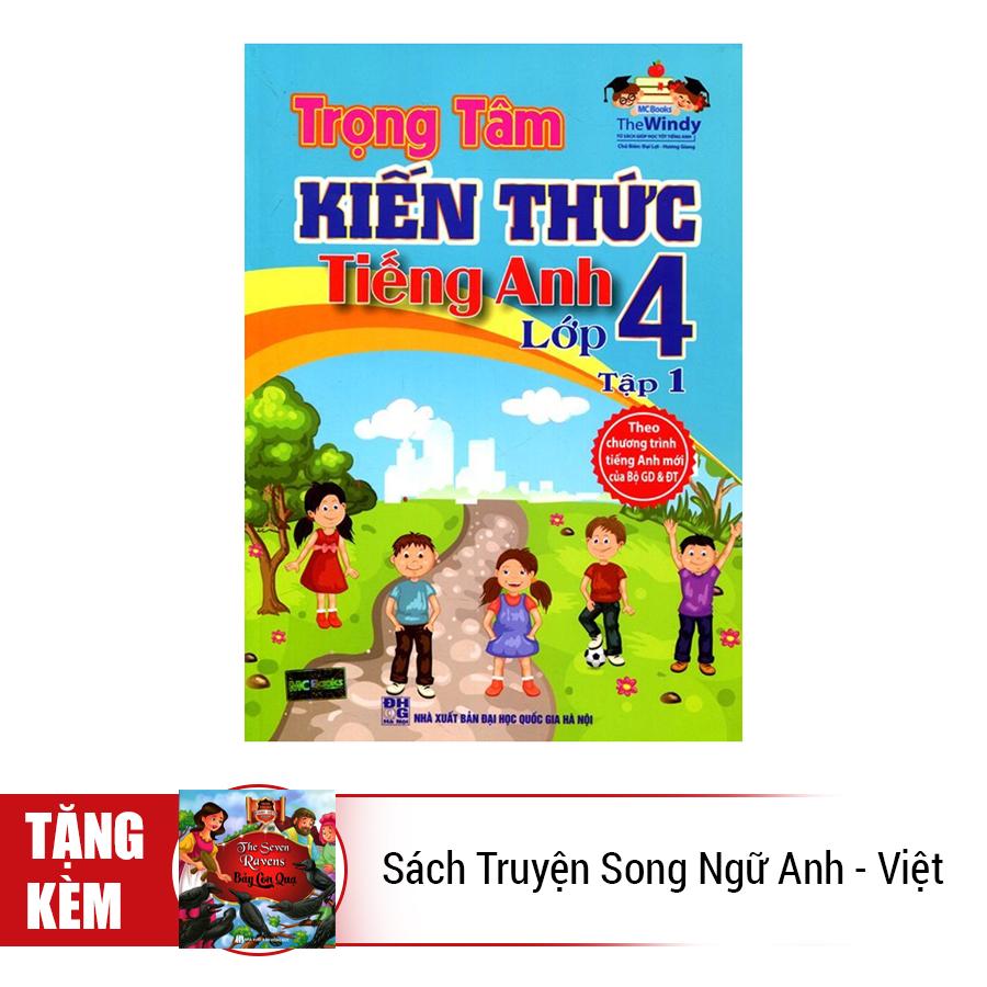 Combo Trọn Bộ Trọng Tâm Kiến Thức Tiếng Anh Lớp 4 (Tặng Kèm Sách Truyện Song Ngữ Anh - Việt)