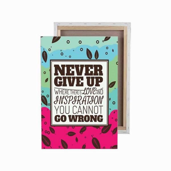 Tranh Trang Trí Never Give Up (40 x 60 cm) - 9473457 , 7337718384812 , 62_7747820 , 1536000 , Tranh-Trang-Tri-Never-Give-Up-40-x-60-cm-62_7747820 , tiki.vn , Tranh Trang Trí Never Give Up (40 x 60 cm)