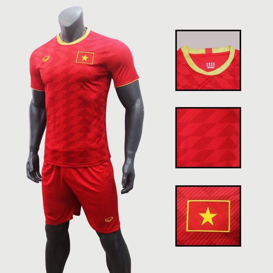 Bộ quần áo đá bóng quấn áo thể thao nam đội tuyển Việt Nam màu đỏ - 1951097 , 4258421966849 , 62_14035891 , 180000 , Bo-quan-ao-da-bong-quan-ao-the-thao-nam-doi-tuyen-Viet-Nam-mau-do-62_14035891 , tiki.vn , Bộ quần áo đá bóng quấn áo thể thao nam đội tuyển Việt Nam màu đỏ