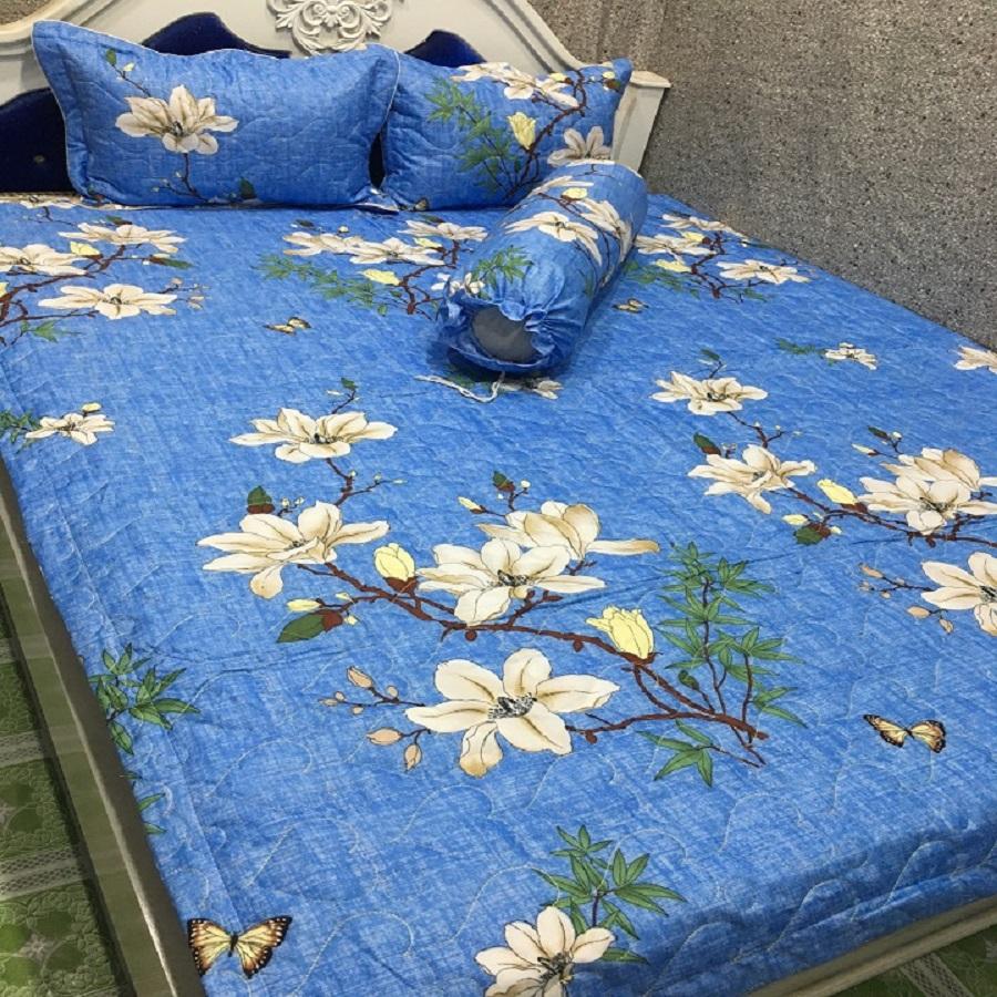 Bộ chăn ga gối cotton poly mẫ̃u hoa xanh nhạt 1m6*2m MR002 - 1290145 , 2409171111580 , 62_13642358 , 360000 , Bo-chan-ga-goi-cotton-poly-mau-hoa-xanh-nhat-1m62m-MR002-62_13642358 , tiki.vn , Bộ chăn ga gối cotton poly mẫ̃u hoa xanh nhạt 1m6*2m MR002