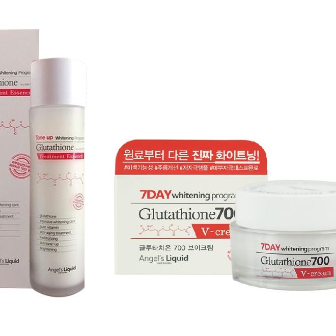 Bộ Toner  Cream Dưỡng Trắng Da 7DAY Whitening Program Glutathione 700V ( Toner  Cream )