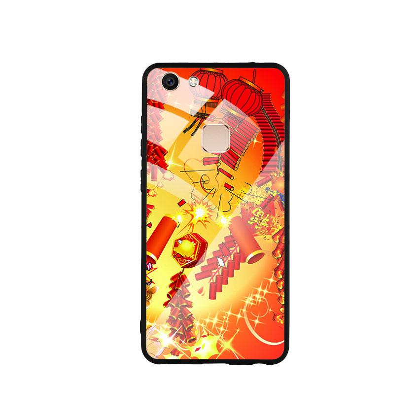 Ốp Lưng Kính Cường Lực cho điện thoại Vivo V7 - Firework 02