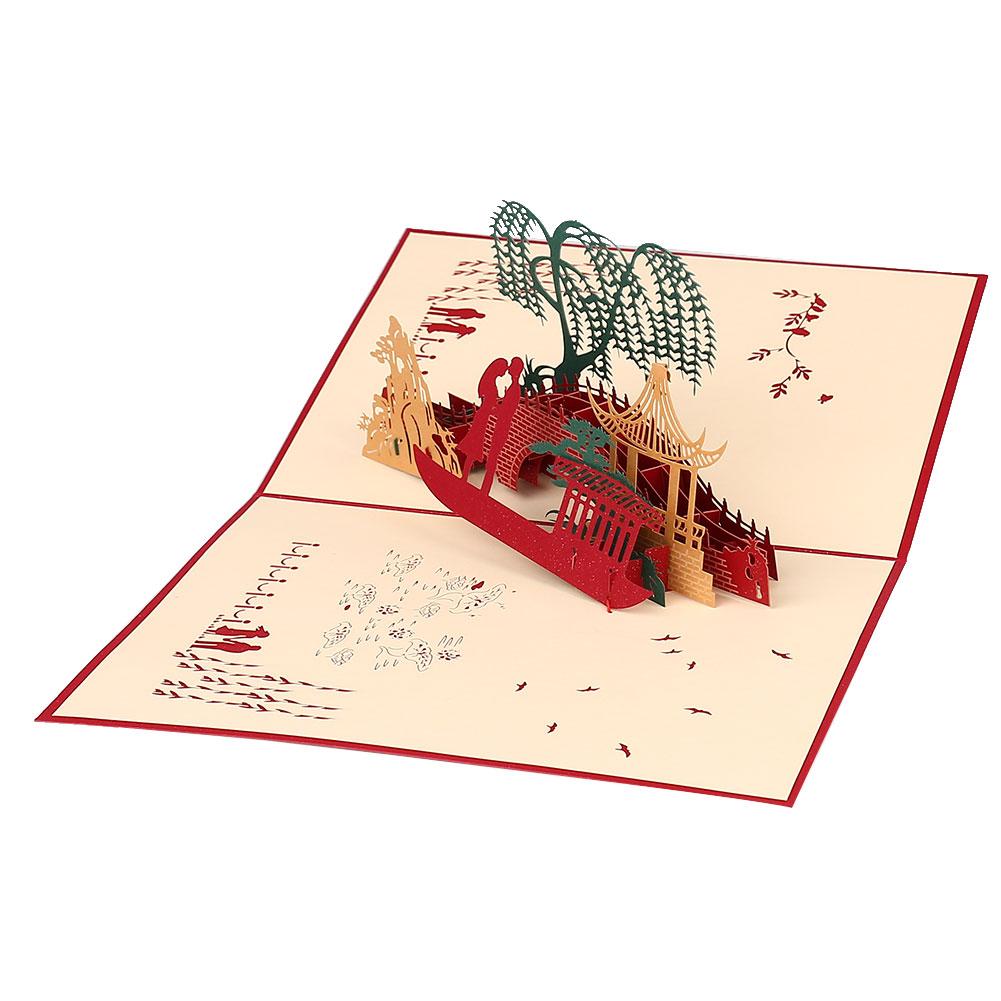 Thiệp Giấy Chúc Mừng Sinh Nhật Hình Cây Cầu 3D