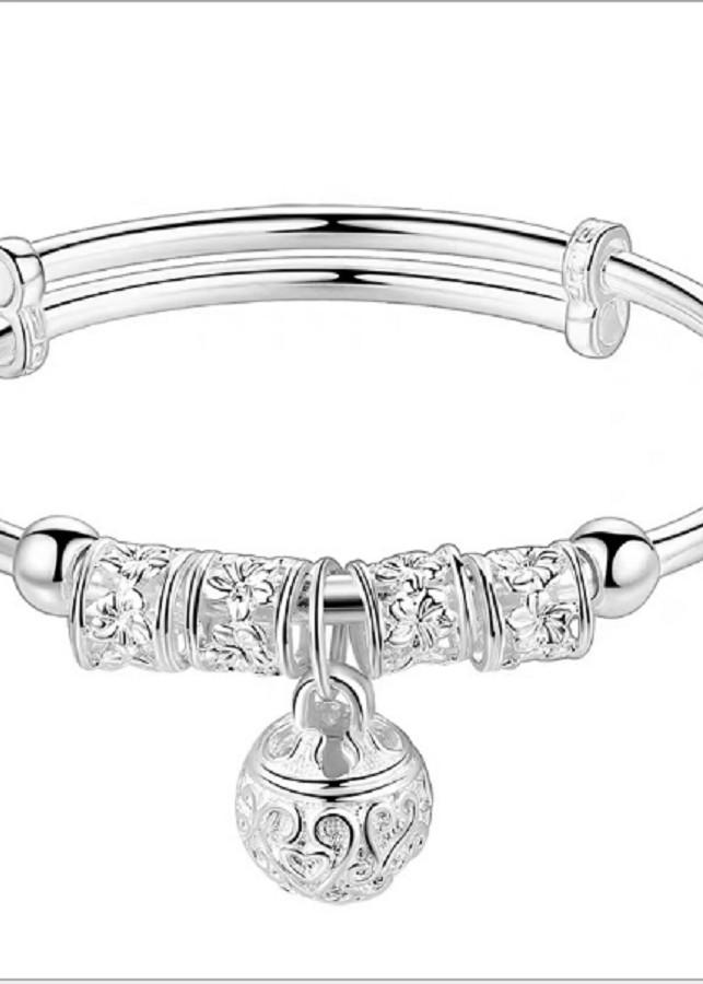 vòng tay nữ xi mạ bạc dầy phong cách sang trọng-vt107