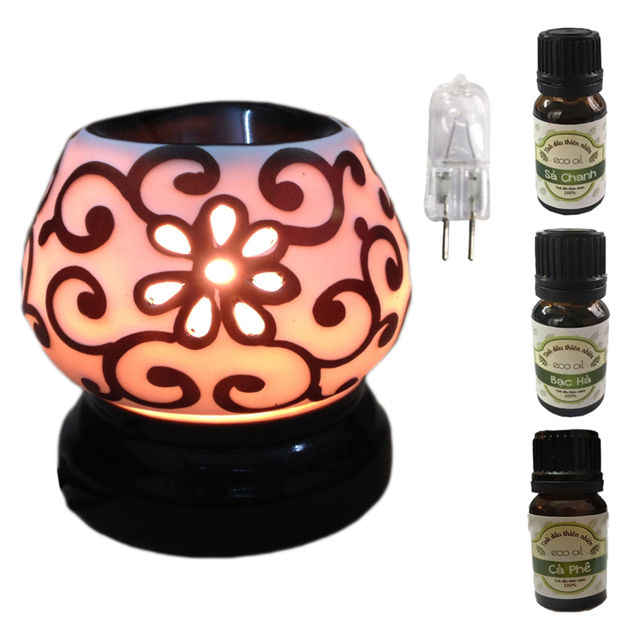 3 tinh dầu (Sả chanh, bạc hà, cà phê) Eco 10ml và đèn xông tinh dầu tam giác hoa nổi và 1 bóng đèn - 1080826 , 5502903344724 , 62_3765377 , 350000 , 3-tinh-dau-Sa-chanh-bac-ha-ca-phe-Eco-10ml-va-den-xong-tinh-dau-tam-giac-hoa-noi-va-1-bong-den-62_3765377 , tiki.vn , 3 tinh dầu (Sả chanh, bạc hà, cà phê) Eco 10ml và đèn xông tinh dầu tam giác hoa nổi