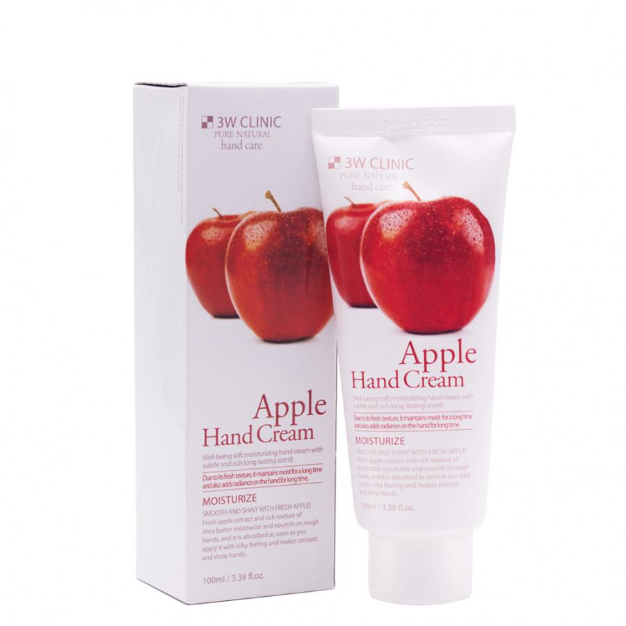 Kem dưỡng da tay chiết xuất Táo Hàn Quốc cao cấp 3W Clinic Apple Hand Cream (100ml) – Hàng chính hãng