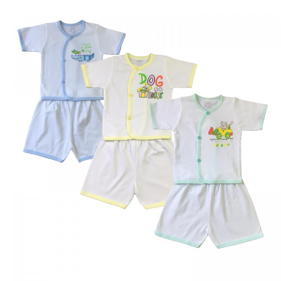 Combo 3 bộ quần áo sơ sinh cộc tay cài xéo màu trắng JOU - 1122535 , 6764237529119 , 62_13755762 , 160000 , Combo-3-bo-quan-ao-so-sinh-coc-tay-cai-xeo-mau-trang-JOU-62_13755762 , tiki.vn , Combo 3 bộ quần áo sơ sinh cộc tay cài xéo màu trắng JOU