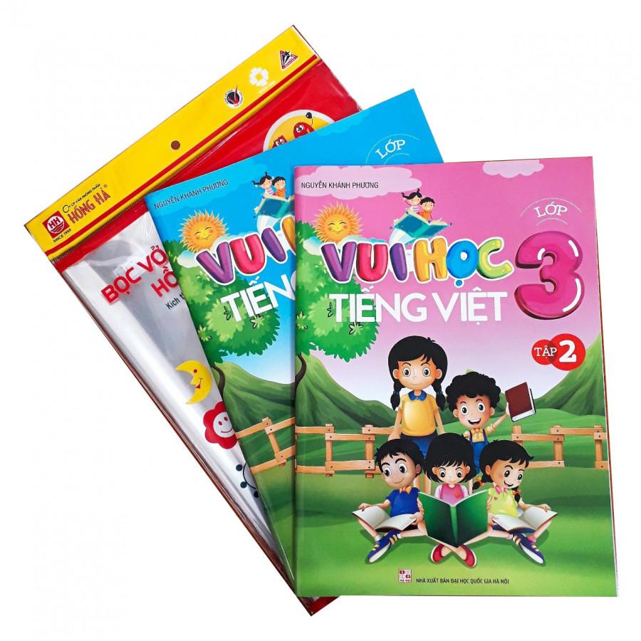 Combo Vui học Tiếng Việt lớp 3 + tập bọc sách vở