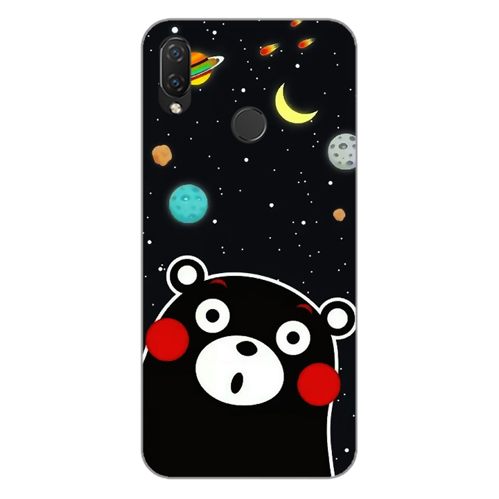 Ốp lưng dẻo Nettacase cho điện thoại Huawei Nova 3i_0345 BEAR03 - Hàng Chính Hãng