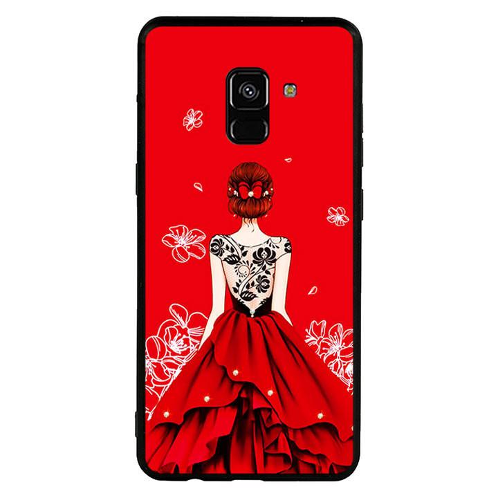 Ốp lưng nhựa cứng viền dẻo TPU cho điện thoại Samsung Galaxy A8 Plus 2018 - Girl 05