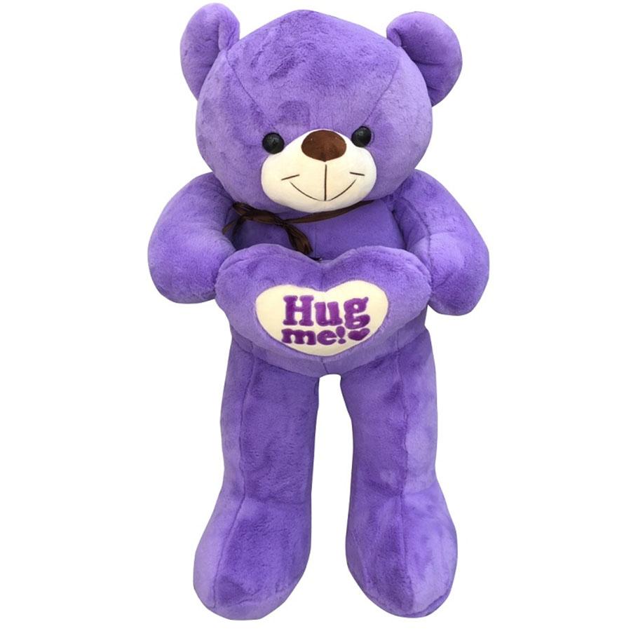 Gấu bông teddy Hugme ICHGIO (1M) - Tím cà