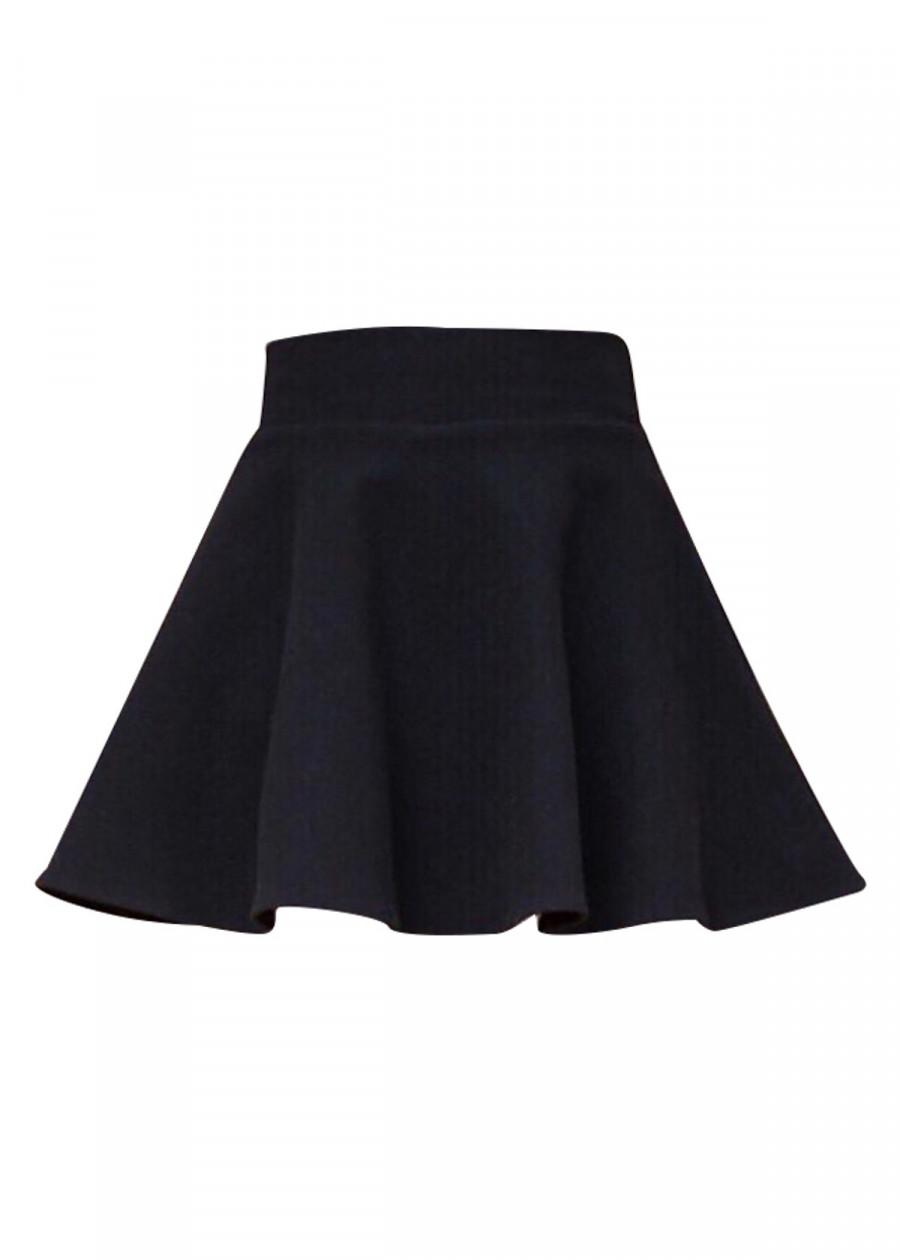 Chân váy xòe ngắn cho bạn nữ - màu đen