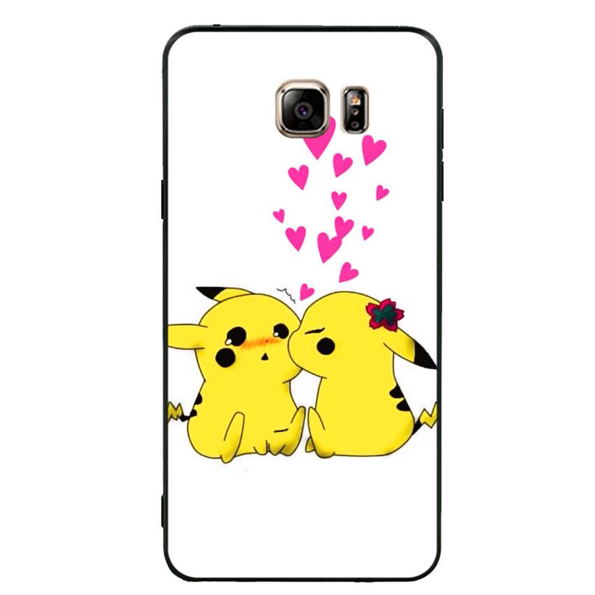Ốp lưng viền TPU cho điện thoại Samsung Galaxy Note 5 - Pikachu 02