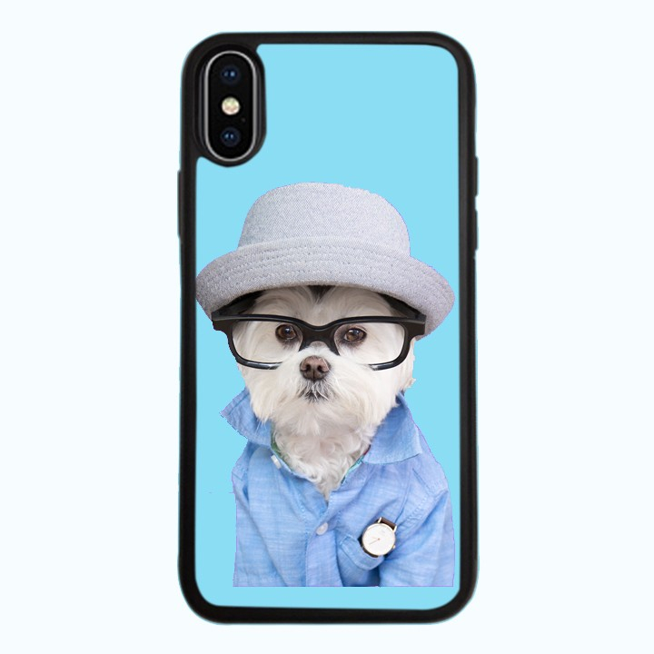 Ốp Lưng Kính Cường Lực Dành Cho Điện Thoại iPhone X Puppy Cute Mẫu 7