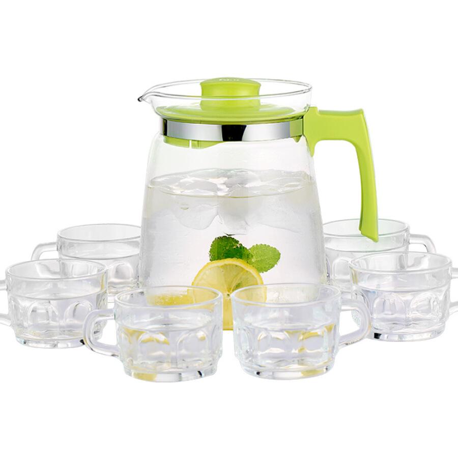 Lilac 2L glass large capacity cold water jug juice pot (a pot of six cups) crystal set WJ8114 - 780874 , 8004229400469 , 62_9236594 , 291000 , Lilac-2L-glass-large-capacity-cold-water-jug-juice-pot-a-pot-of-six-cups-crystal-set-WJ8114-62_9236594 , tiki.vn , Lilac 2L glass large capacity cold water jug juice pot (a pot of six cups) crystal set W