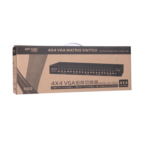 Bộ chia cổng VGA Matrix 4x4 VIKI MT-VT414 hỗ trợ IR/Audio/RS232 - Chính hãng - 1466579 , 6427990969652 , 62_14263497 , 4320000 , Bo-chia-cong-VGA-Matrix-4x4-VIKI-MT-VT414-ho-tro-IR-Audio-RS232-Chinh-hang-62_14263497 , tiki.vn , Bộ chia cổng VGA Matrix 4x4 VIKI MT-VT414 hỗ trợ IR/Audio/RS232 - Chính hãng