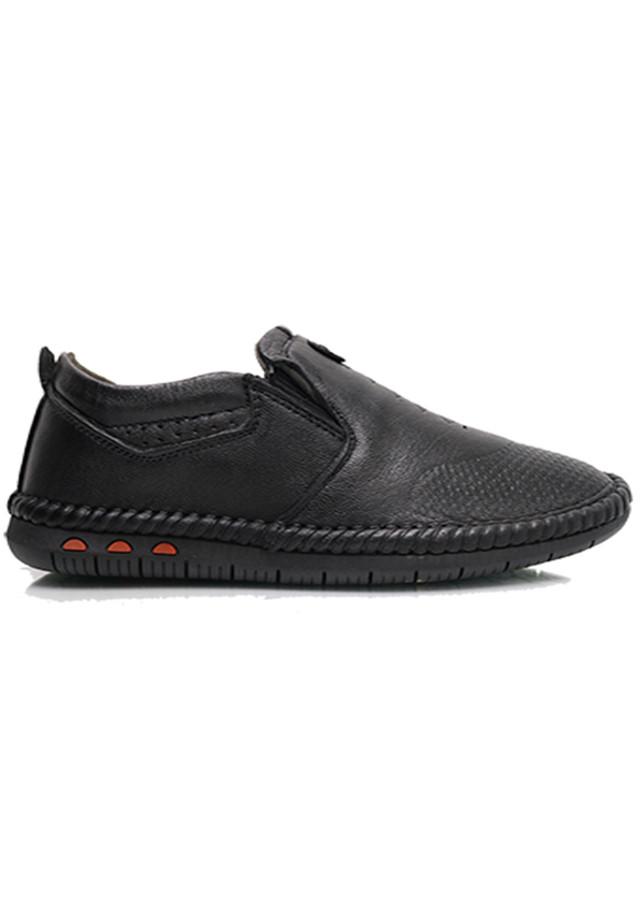 Giày mọi nam màu đen khâu zích zắc