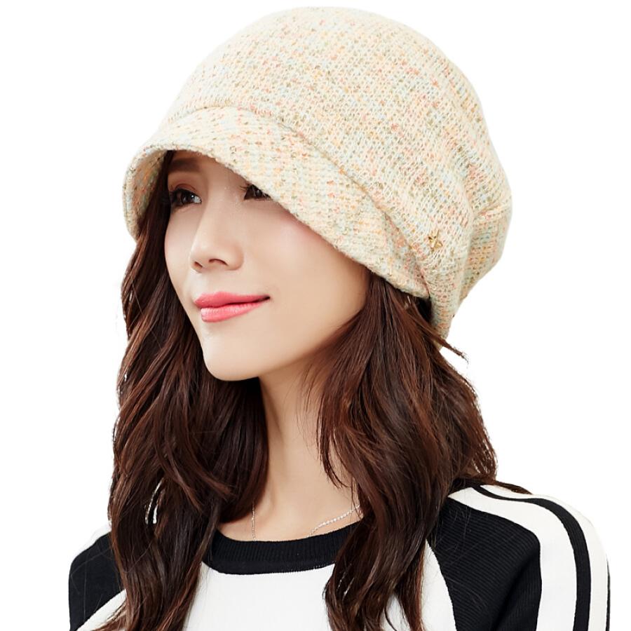 Mũ Nồi Dệt Kim Lót Nhung Cho Nữ Lan Shiyu M0550