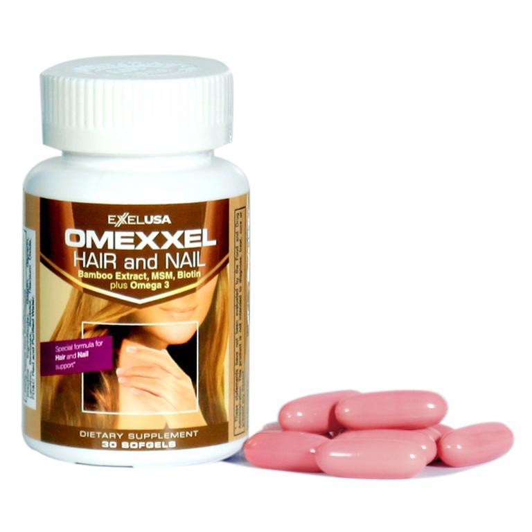 Thực phẩm chức năng Viên Uống Ngăn Rụng Tóc Và Dưỡng Móng Omexxel Hair/Nail (Lọ 30 Viên) - Chính Hãng Hoa Kỳ