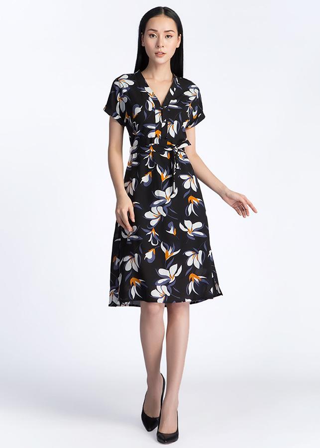 Đầm Suông Tay Lơ Vê De Leah -  Đen