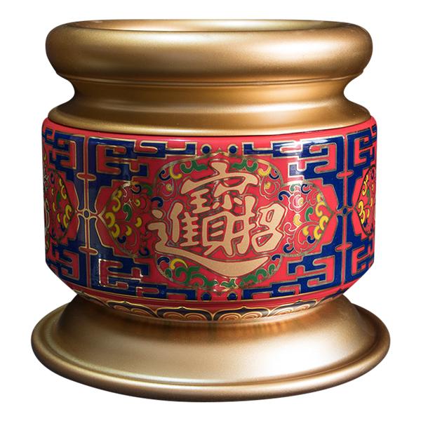 Lư Hương Sứ Pháp Lam Chiêu Tài Tụ Vuông