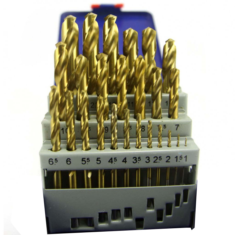 Bộ 25 mũi khoan sắt 1-13mm A0100B C-Mart Tools tiêu chuẩn DIN 338 HSS phủ Titan - 18308498 , 2909067656800 , 62_8970659 , 1200000 , Bo-25-mui-khoan-sat-1-13mm-A0100B-C-Mart-Tools-tieu-chuan-DIN-338-HSS-phu-Titan-62_8970659 , tiki.vn , Bộ 25 mũi khoan sắt 1-13mm A0100B C-Mart Tools tiêu chuẩn DIN 338 HSS phủ Titan