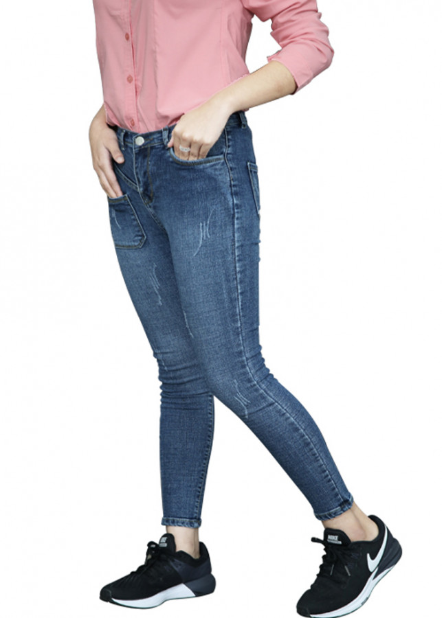 Quần Jean nữ chất co giãn cao cấp mẫu túi trước size nhỡ (Size 24-28)
