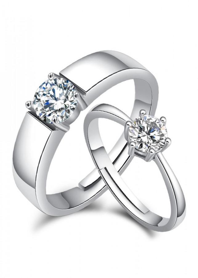 Nhẫn đôi tình nhân Bạc 925 tặng kèm hộp nhung cao cấp  - RC03
