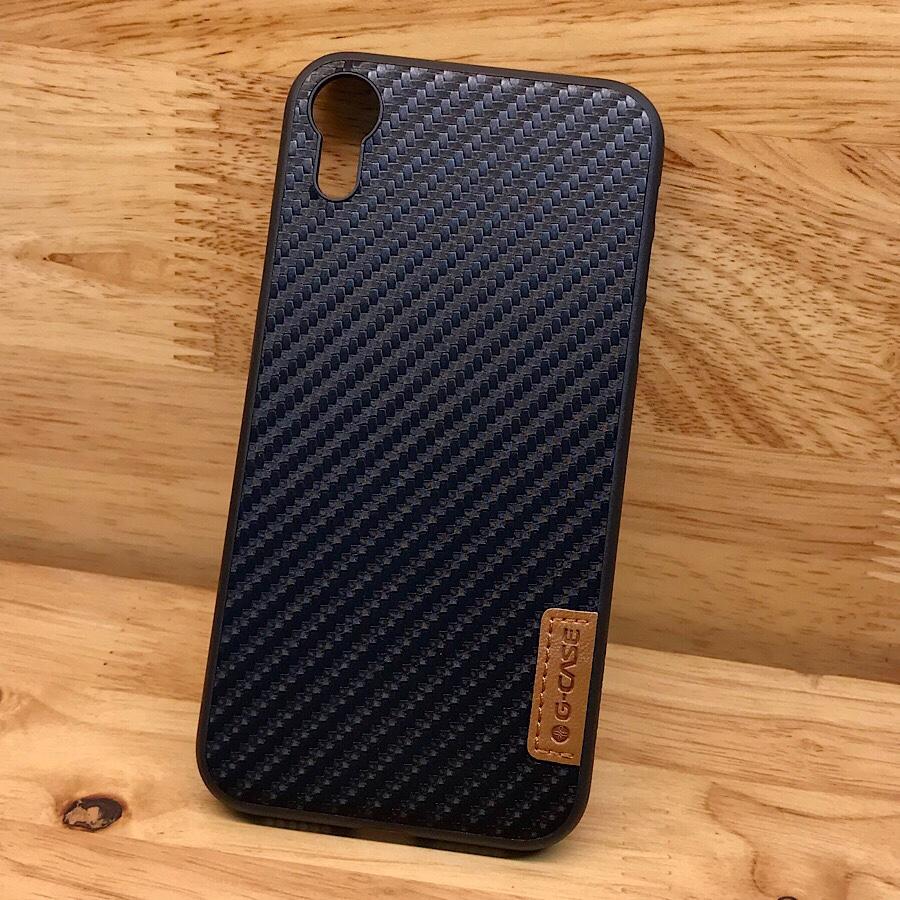 Ốp lưng dành cho iPhone XR hiệu G-Case Dark Carbon mỏng 1mm