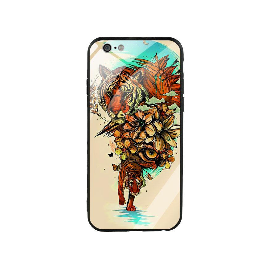 Ốp Lưng Kính Cường Lực cho điện thoại Iphone 6 / 6s - Tiger 05
