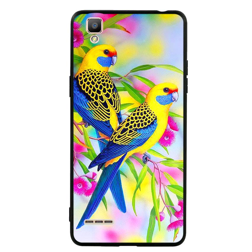 Ốp lưng nhựa cứng viền dẻo TPU cho điện thoại Oppo F1 - Couple Bird