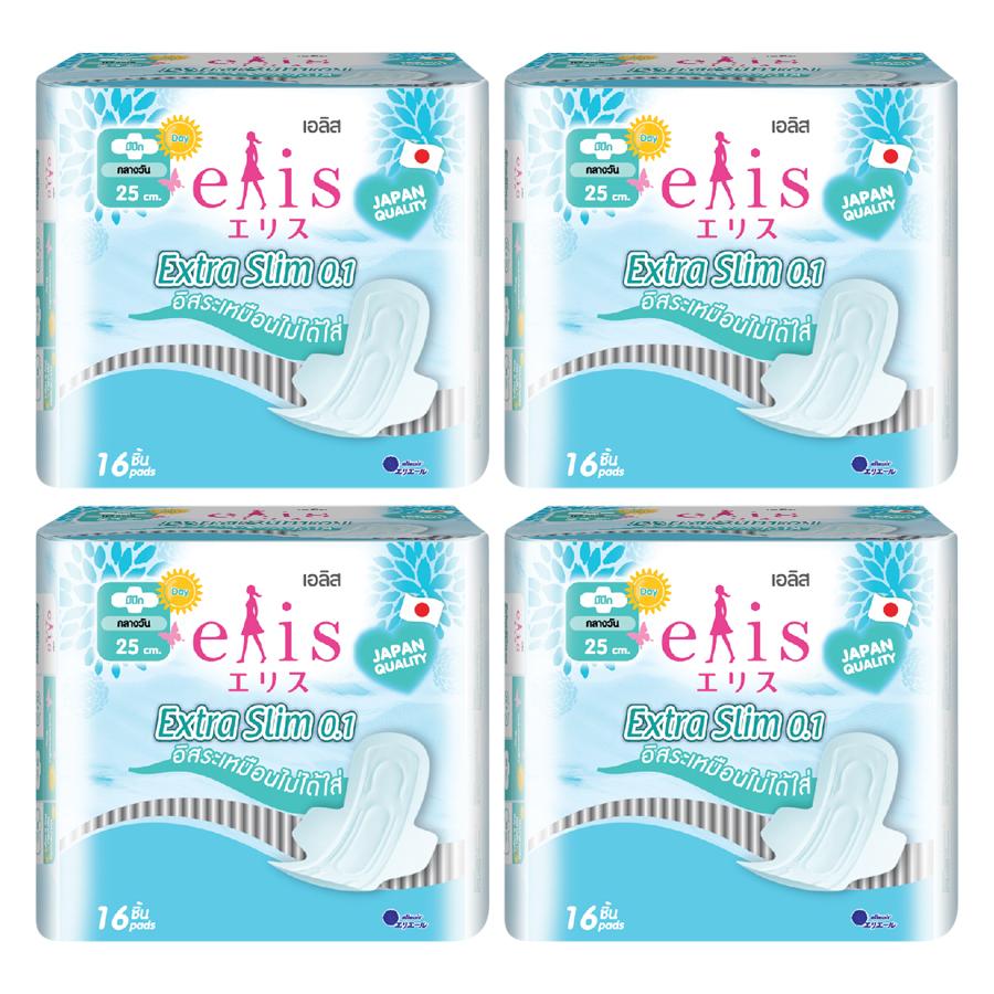 Combo 4 Gói Băng Vệ Sinh Elis Extra Slim 0.1 RP 25cm (16 Miếng / Gói) - 7403673 , 8108842959271 , 62_15347721 , 224000 , Combo-4-Goi-Bang-Ve-Sinh-Elis-Extra-Slim-0.1-RP-25cm-16-Mieng--Goi-62_15347721 , tiki.vn , Combo 4 Gói Băng Vệ Sinh Elis Extra Slim 0.1 RP 25cm (16 Miếng / Gói)